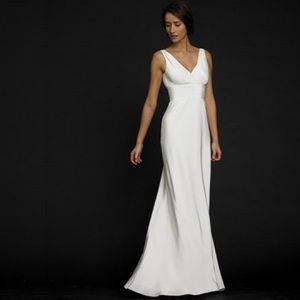 Sophia Silk Tricontine Ivory Gown